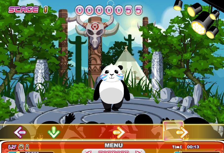 Тропический танец панды