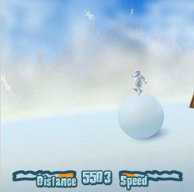 Катание на снежке