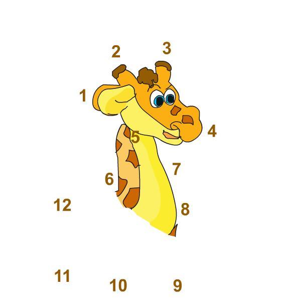 Учим цифры от 1 до 12
