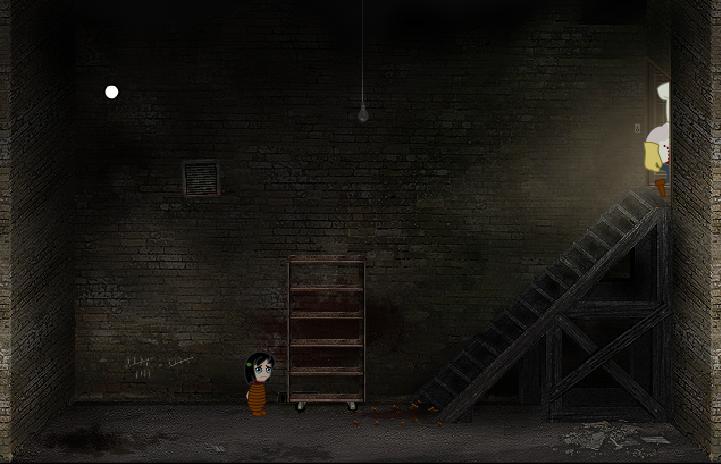 Заключенная девочка ужасными поварами в подвале