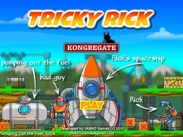 Робот шутник Рик