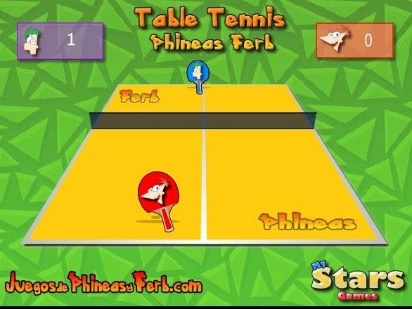 Финис и Ферб настольный тенис