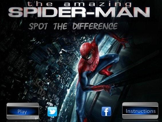 Найти отличия на картинках с Человек Паук