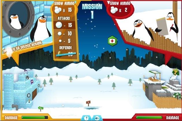 Мадагаскар Снежная война пингвинов