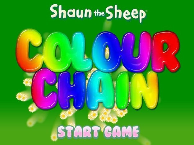 Барашек Шон и цветная цепочка из кубиков