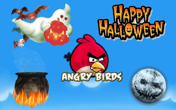 Злые птицы на дне Хэллоуин