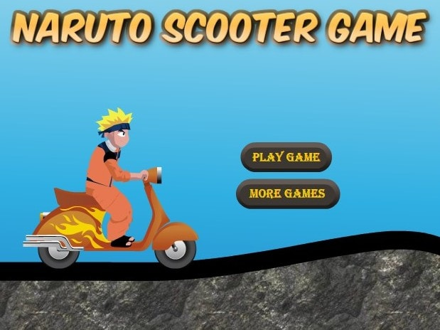 Наруто на скутере