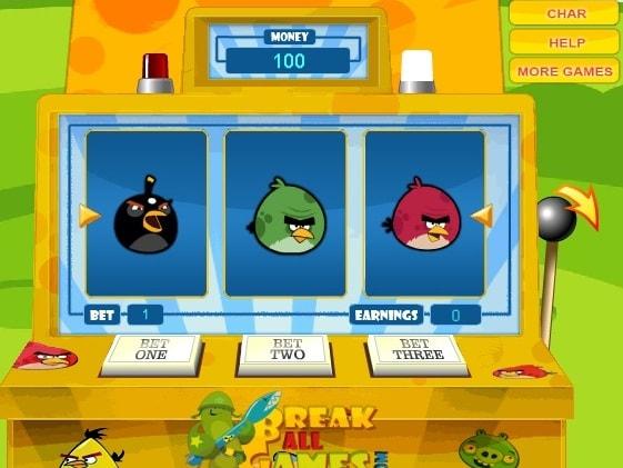 Сердитые птицы: игровой автомат