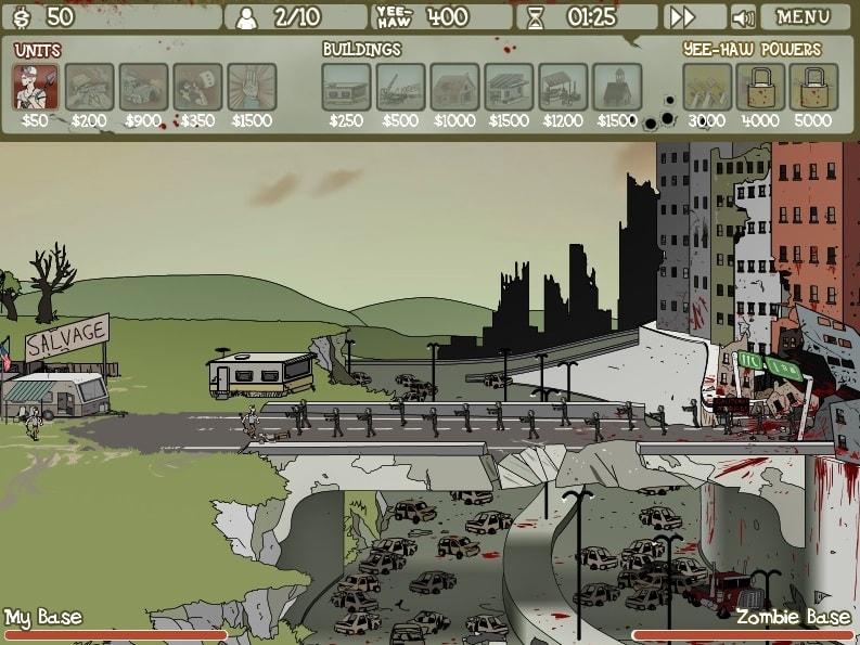 майнкрафт жители против зомби