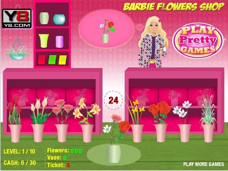 Барби и цветочный магазин