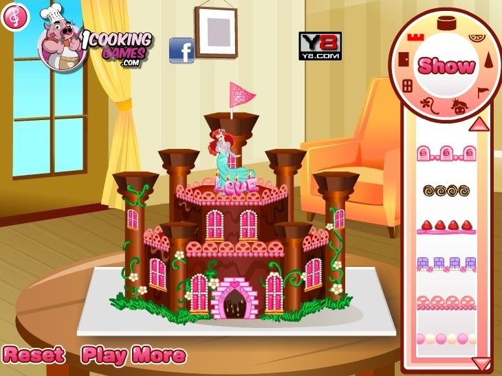Принцесса замка готовит пирог