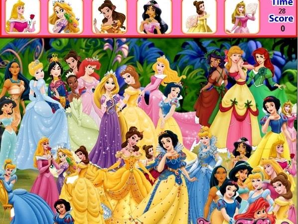 Принцессы Диснея - Найди предметы