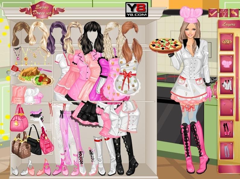 Розовый шеф-повар