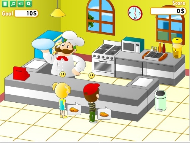 Шеф-повар готовит обед 2
