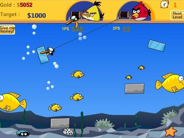 Сердитые птицы - рыбалка
