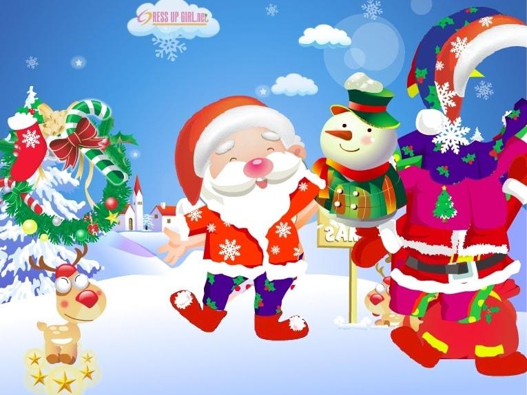 Дед Мороз приходит к городку