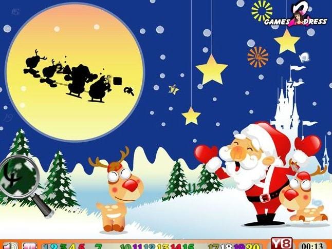 Найди числа - Дед Мороз