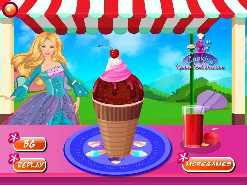 Барби любит мороженое