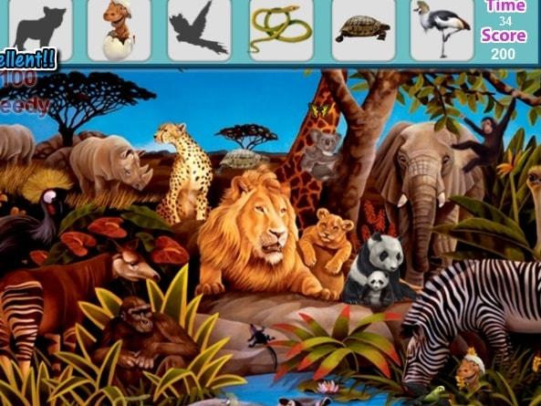 Поиск предметов - Лесные животные