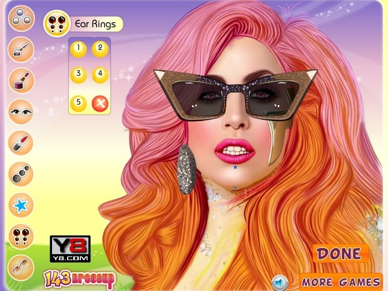 Смазливая Lady Gaga знаменитости макияж