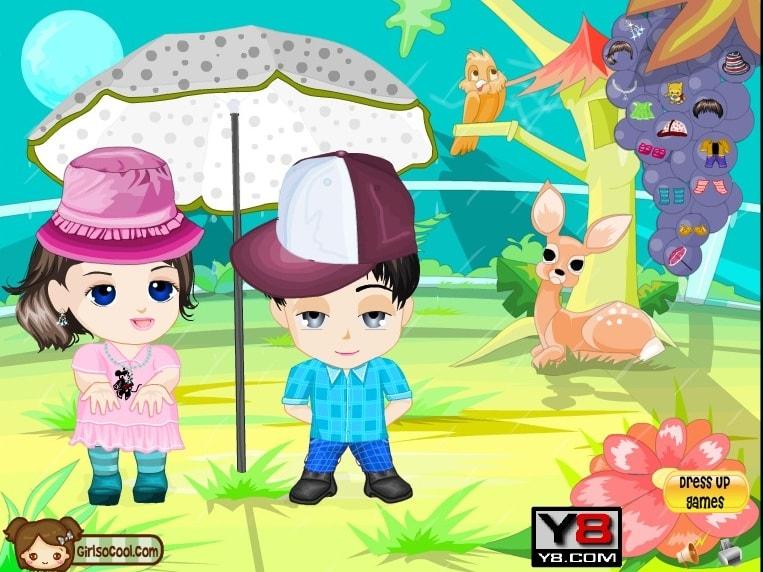 Аниме Дети одеваются
