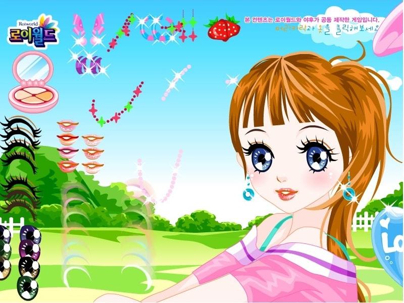 Девочка-аниме одевается