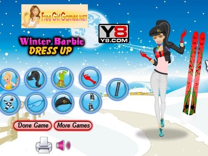 Зимний наряд для Барби