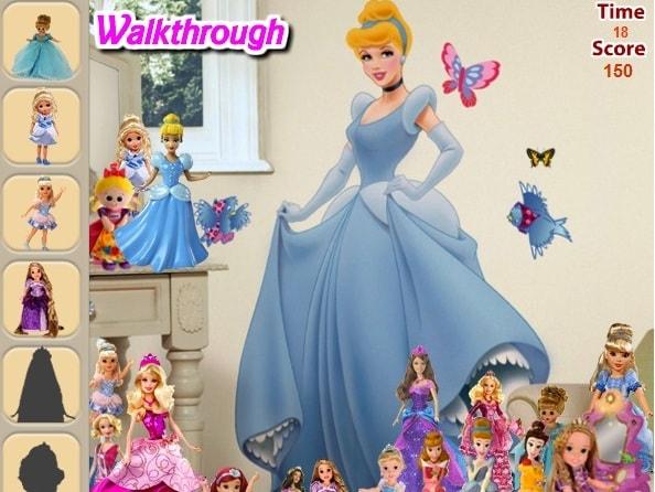 Найти предметы в комнате принцессы