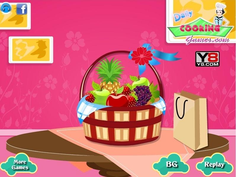 Украшения корзины с фруктами