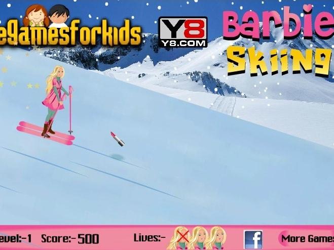 Барби. Катание на лыжах