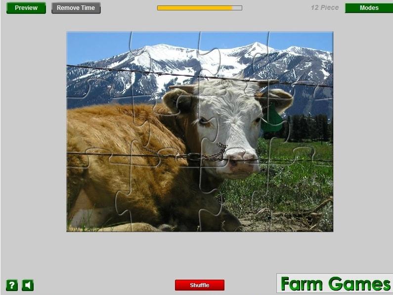 Альпийская ферма Пазл