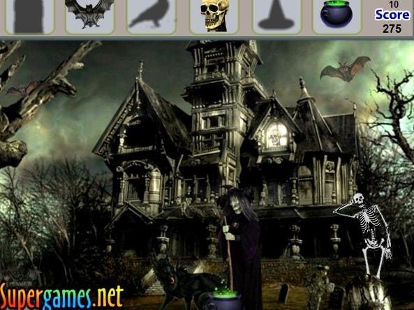 Страшный дворец - найти предметы
