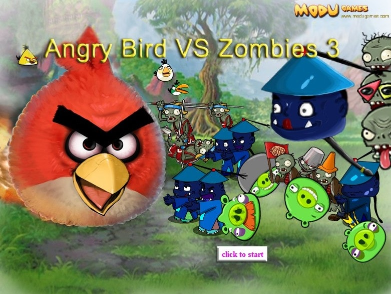 Angry Birds и Растения против зомби