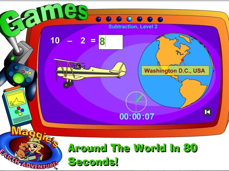 Вокруг света за 80 секунд вычитание