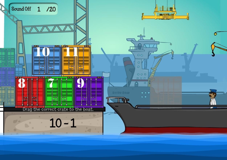 Погрузи контейнеры. Вычитание
