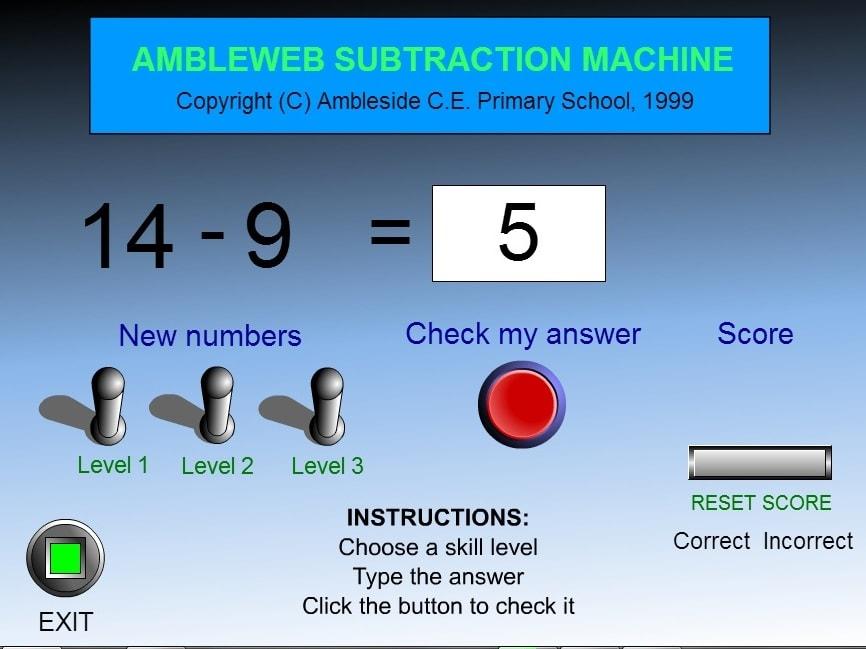 Вычитание тест