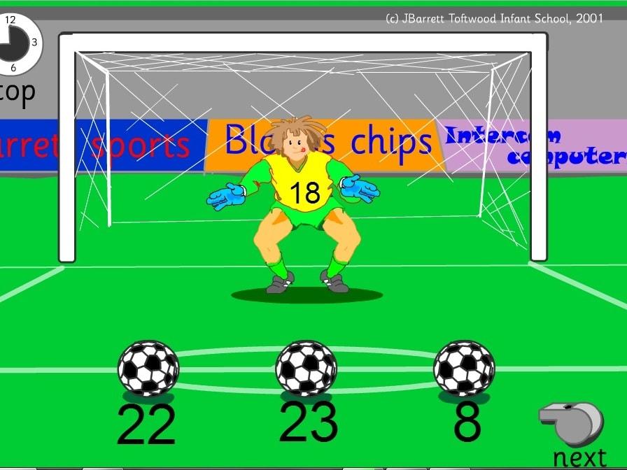 Вычитание футбол 2