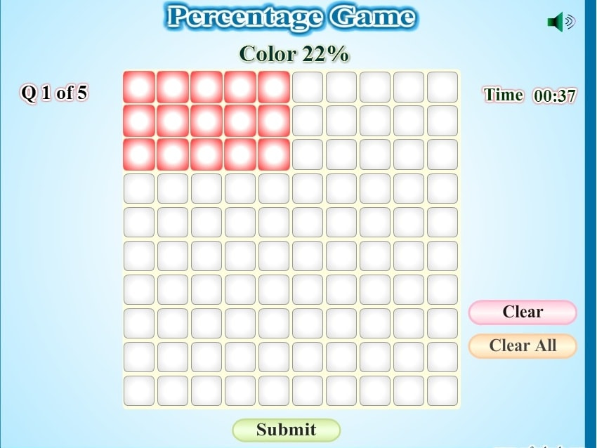 Проценты в квадратиках