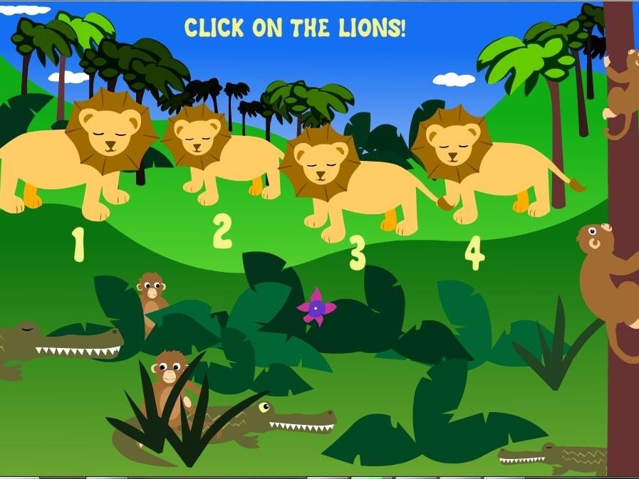 Животные джунглей. Найди количество