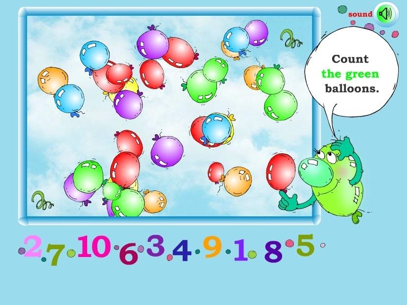 Подсчет шариков по цветам