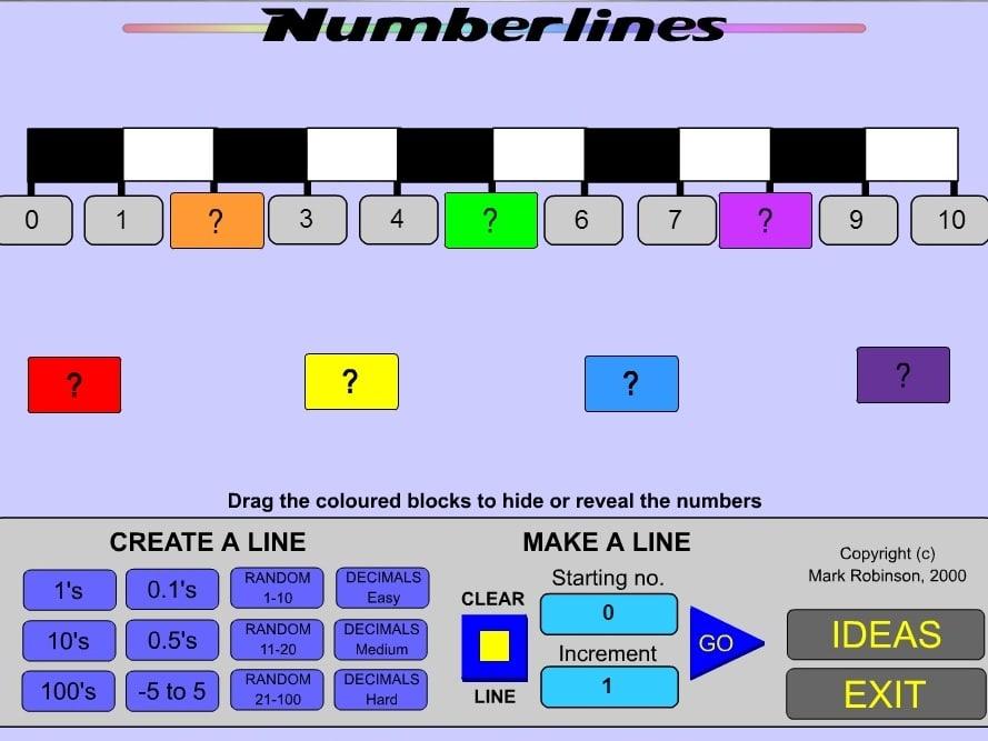 Числа на линии