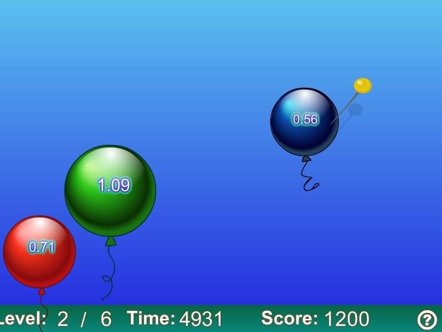 Десятые лопни шарики по возрастанию уровень 1