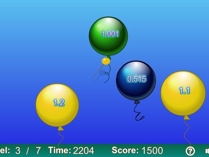 Десятые лопни шарики по возрастанию уровень 2