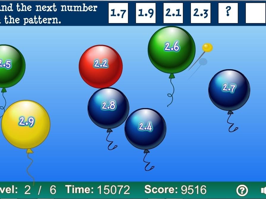 Лопни шарик по закономерности