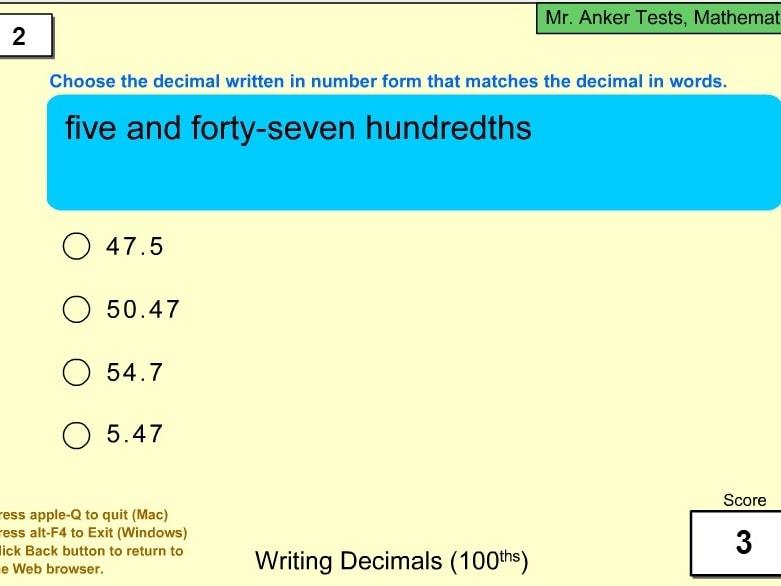 Написание десятичных