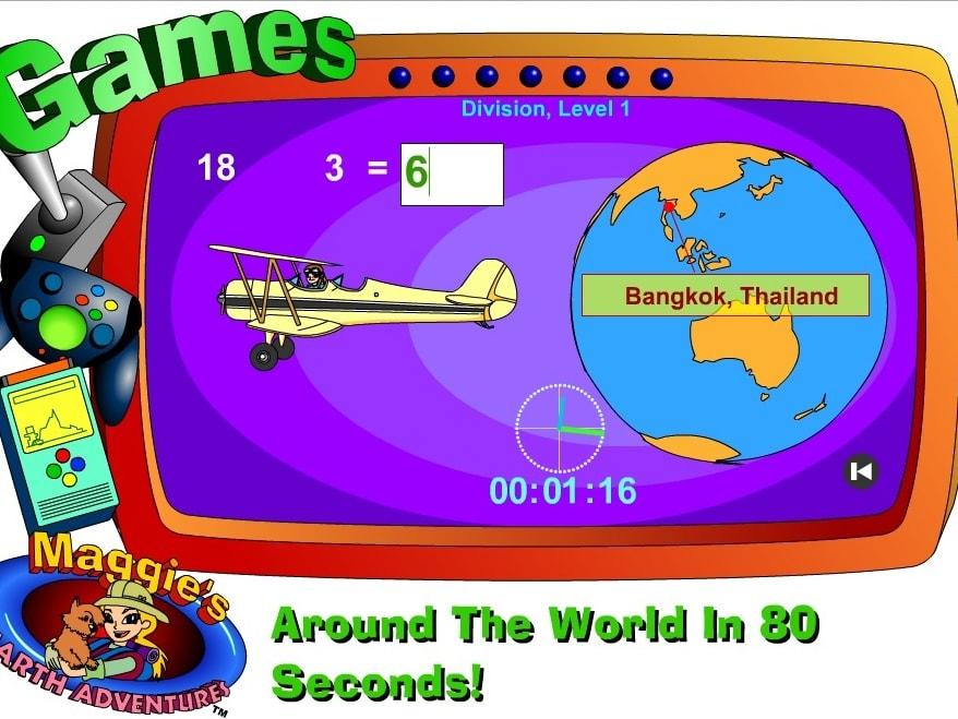 Деление за 80 секунд вокруг света