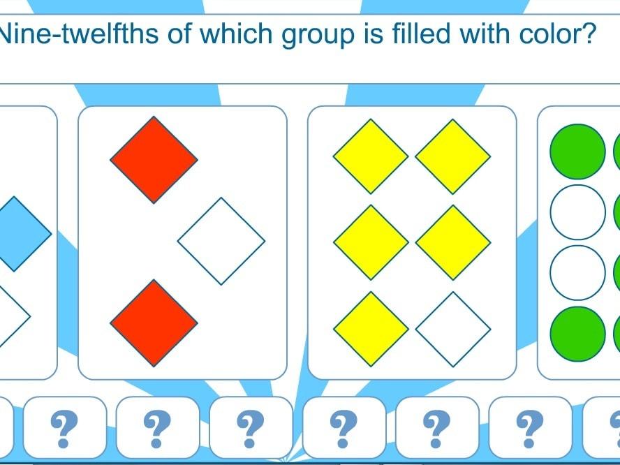 Дроби 4 цветовые группы