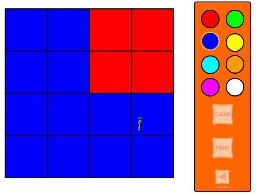 Цветные дроби 4 на 4