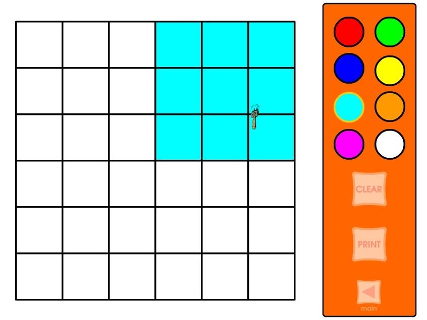 Цветные дроби 6 на 6