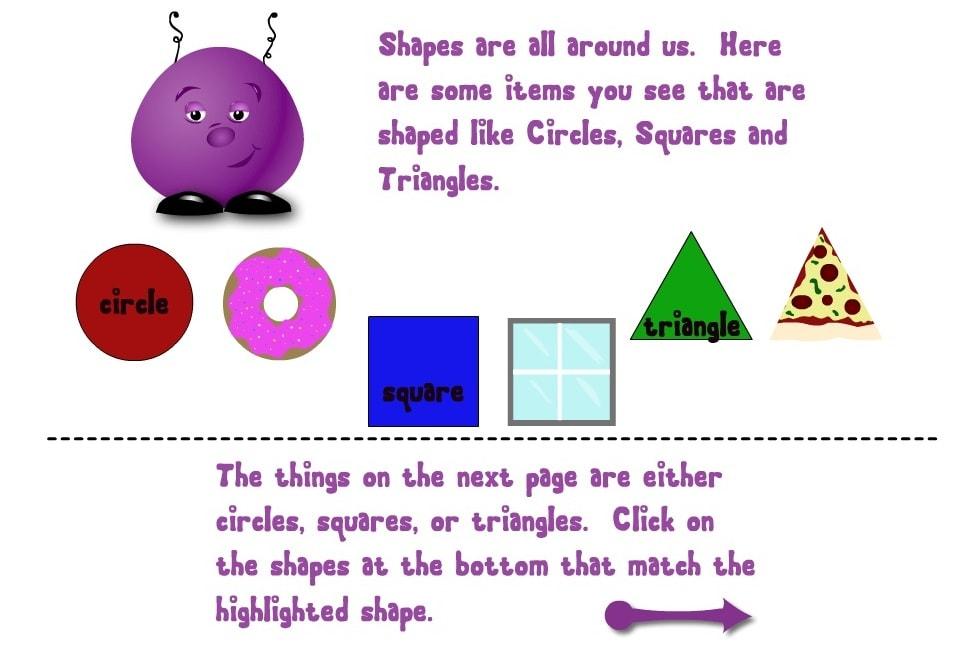 Сравнение геометрических фигур с разными объектами
